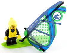 Lego City minifigura surferin, surfista, tabla de surf con vela de set 60153, nuevo