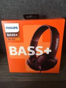 Philips shl3070 Bass + On-Ear Kopfhörer Braun-Brandneu