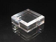 "2"" Acrylic Display Base- BEVELED plastic stand SET OF TEN (10)"