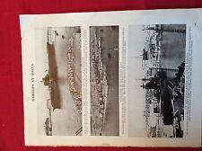 m12w ephemera 1940s ww2 picture h m s ships malta illustrious rodney