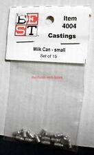 Bollinger Edgerly/BEST~#4004~HO~Castings~Milk Can, Small~Set of 15~