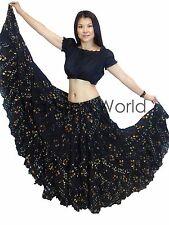 25 Yard British Tribal Belly Dance , Dancing Cotton Skirt Black