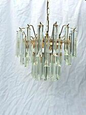 Lustre cristal paolo venini suspension sculpturale Murano vers 1970 lamp