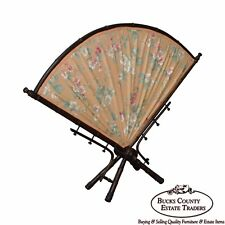 Antique Associated Artist Aesthetic Faux Bamboo Fire Screen
