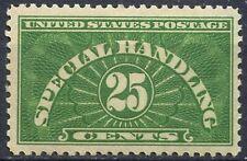 Scott # QE4  -  Single 25 cent,Special Handling Stamp - 1913 - UNUSED - OG - MLH