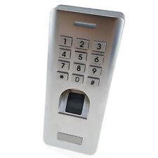 Standalone Fingerprint Reader Door Access Keypad Entry Lock Control System Metal