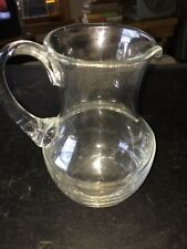 New listing Nice Clear Glass Pitcher