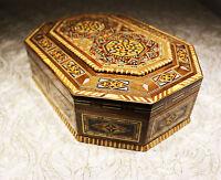 Joyero caja de madera handkraft con nácar Caja de joyería, NUEVO, Siria