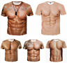 New Women/Men's Casual T-Shirt Sexy Muscle Funny 3D Print Short Sleeve Tee Tops