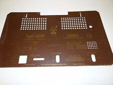 """Original plano posterior para tubos radio """"Grundig Type 2098"""" back panel Tube radio w711"""