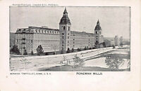 Ponemah Mills, Norwich (Taftville), Connecticut, Very Early Postcard, Unused