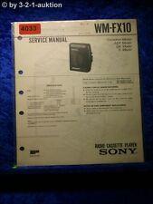 Sony Service Manual WM FX10 Cassette Player (#4033)