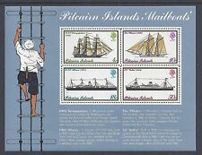 1975 PITCAIRN ISLANDS MAILBOATS MINI SHEET FINE MINT MNH/MUH
