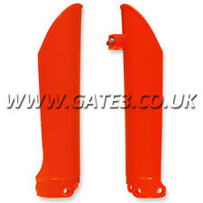 KTM 380EXC EXC 380 2000-2002 ORANGE FRONT LOWER FORK GUARDS ENDURO TRAIL