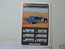 26-RALLYE CROSS A2 SCHLESSER FORD BUGGY RAID X202 KWARTET KAART, QUARTETT CARD,