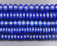 Natural Lapis Lazuli Gemstone Rondelle Spacer Beads 4mm 5mm 6mm 8mm 10mm 15.5 in