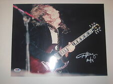 ANGUS YOUNG (AC/DC) Signed 11x14 PHOTO w/ PSA LOA & Graded 10