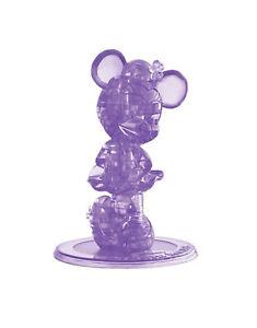 Disney Original Deluxe Purple Crystal Minnie Mouse 3D Brain Teaser Puzzle 42 Pcs