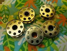 5 Vintage Singer Sewing Machine Bobbins Featherweight 221 222k or 301a ~ No Rust