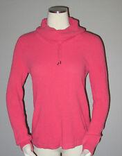 Womens Ralph Lauren Black Label Cotton Funnel Neck Sweater SZ S Pink Cotton