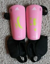 Little Girls Adidas Soccer Shin Guards Size L Pink Ankle Guard