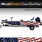 American Flag Waving Boat Wrap Kit 3M Cast Vinyl - 6 Sizes Available