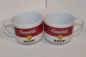 2 Campbell's Soup 22 oz  Plastic mug Trudeau