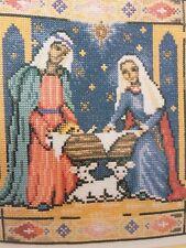 Away In A Manger Christmas Nativity Cross Stitch Chart