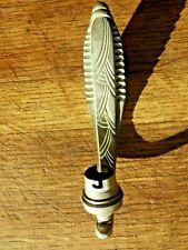Support applique art déco col de cygne en bronze nickelé pour tulipe 1920