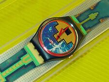 Swatch von 1991 - BLUE FLAMINGO - GN114 - NEU & OVP