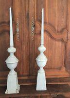 Epi de Faitage Ancien Zinc Peint 100 cm Toit Tuile Toiture Pignon 2 DISPONIBLES