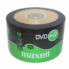 50 Maxell DVD+R RECORDABLE 16x Speed Blank Discs 4.7GB - 50 Pack DVD Plus R