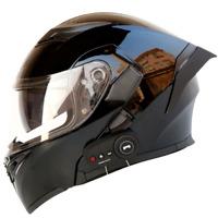 New Motorcycle Helmet Flip Up Modular Motobike Bluetooth Helmet 1200 mAh battery
