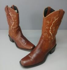 Womens Durango Leather Cowboy Western Boots Size 6.5 M Brown RD1622