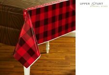 LumberJack Plastic Tablecover 137 x 274cm Red Black Party Supplies FREE SHIPPING