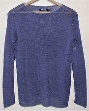 DKNY Women's Long Sleeve Purple Loose Knit Top, Sweater. Size P. NWOT