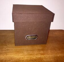 File Cube 78 Disc Storage Box Case CD DVD Blu-ray Video Game Holder Lid