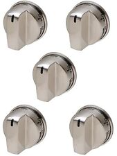 5 x EBZ37189611 for LG Range Burner Knob SS Brushed Nickle AP4447911 PS3534129