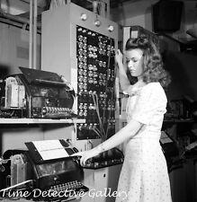 Muriel Pare, Western Union Telegraph Operator - 1943 - Historic Photo Print