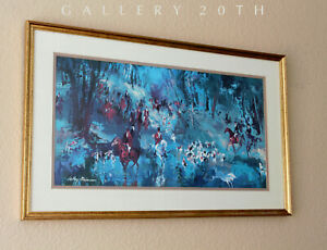 WOW! LEROY NEIMAN HUNT OF THE UNICORN LIMITED ORIG LITHOGRAPH! 1967 PAINTING ART