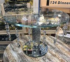Crystal Filled vintage Furniture Cake Stand Fruit Plate tier Crystal Wedding.