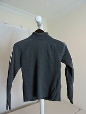 GAP 100% Cotton Gray W/White Stripe Turtle-neck Sweater - Size - Medium