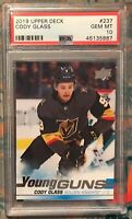 2019-20 Upper Deck Young Guns #237 Cody Glass RC Rookie PSA 10 Golden Knights