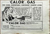 Calor Gas For Clean, Comfortable, Convenient Country Living Vintage Advert 1950