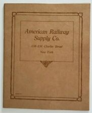 American Railway Supply Co., New York  1910-1920's illustrated Catalog Form 30