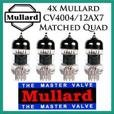 New 4x Mullard 12AX7 / CV4004 | Matched Quad / Quartet / Four Tubes Short Plate