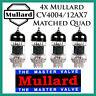 New 4x Mullard 12AX7 / CV4004 | Matched Quad / Quartet / Four Tubes | Free Ship