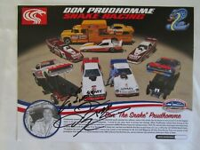 NHRA Drag Racing Funny Car DON The SNAKE PRUDHOMME Signed AUTOGRAPH Limited Fuel