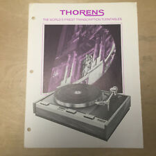 Vtg ELPA Marketing Brochure Thorens Turntables TD-150 Mark II TD-125 B AB LB