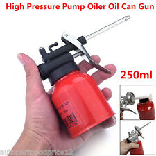 Universal Autos 250ml Metal High Pressure Pump Oiler Oil Can Gun For Lubricants